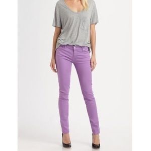 7 For All Mankind The Skinny Jeans in Light Purple